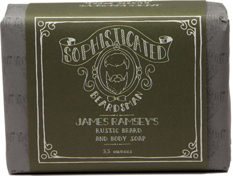 Soap - James Ramsey's Rustic Beard and Body Soap - With Activated Charcoal - Sophisticated Beardsman - 1