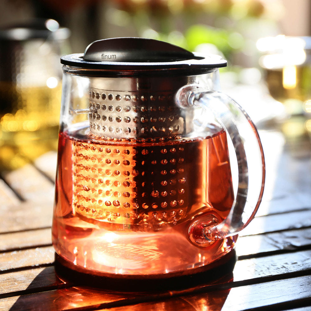 Brew-Stop Glass Teapot for Loose Leaf Tea 0.4L with Coaster
