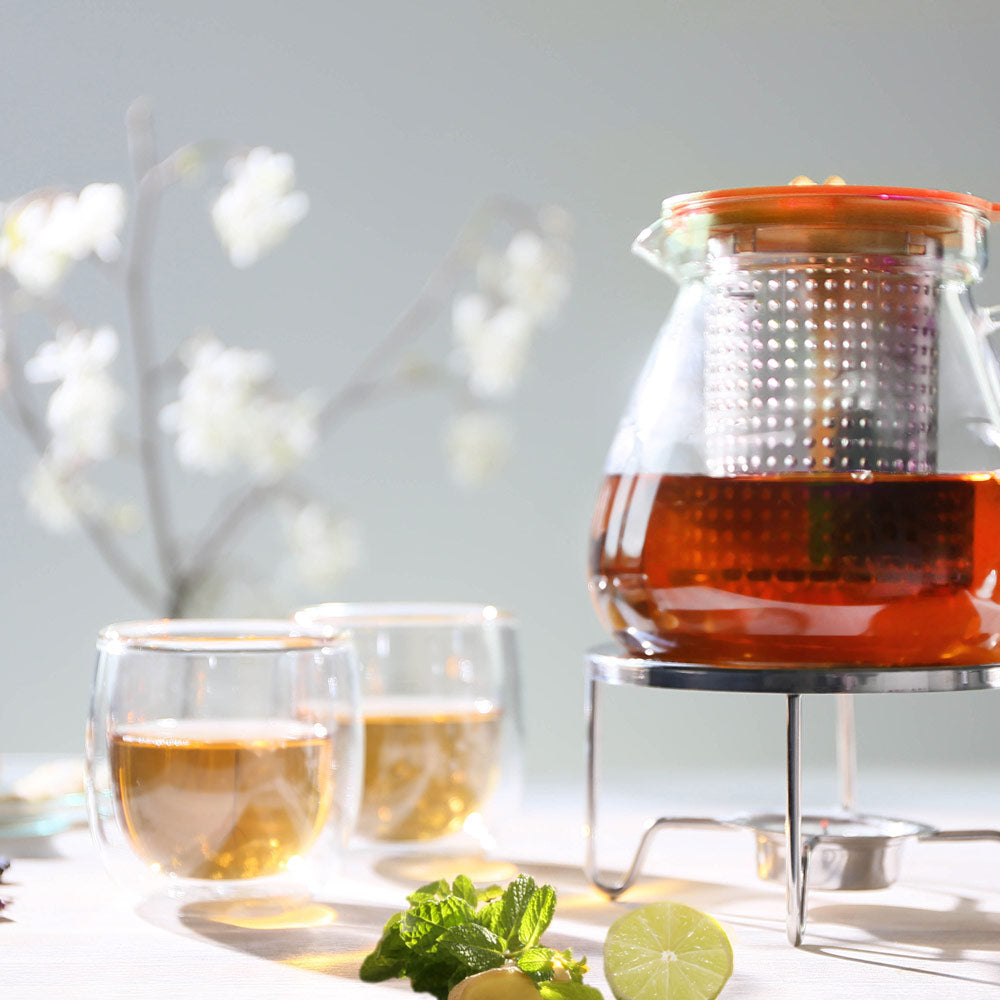 Brew-Stop Glass Teapot for Loose Leaf Tea 1L