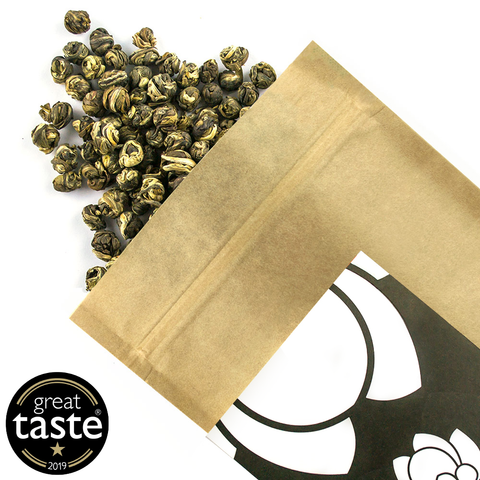 Jasmine Dragon Phoenix Pearl Organic - Award Winning Loose Leaf Tea - Tea Shirt Tailored Refreshments