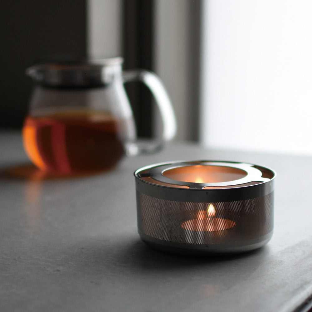 Stainless Steel Teapot Warmer Tea Light Candle