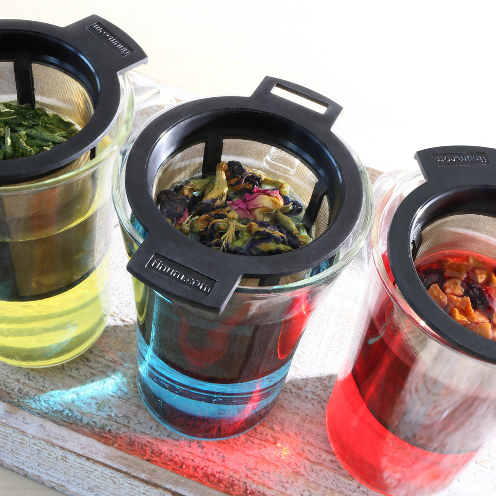 Tea Infuser for Loose Leaf Tea - Finum Brewing Basket Permanent Filter