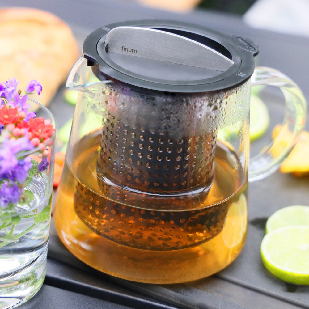 Brew-Stop Glass Teapot for Loose Leaf Tea 0.8L