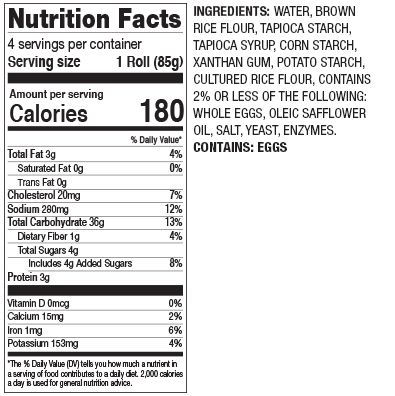 Gluten Free Hamburger Nutrition Facts