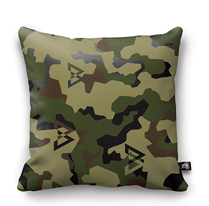 GREEN CAMO PILLOW