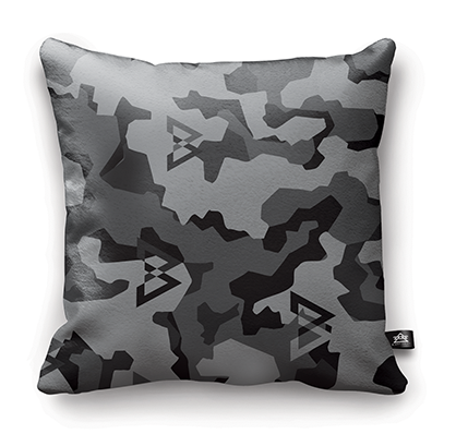 GREY CAMO PILLOW