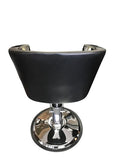 Black chrome arm rest  Styling Chair