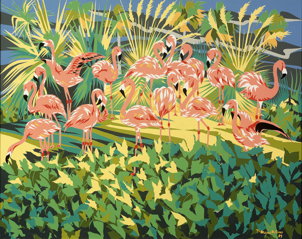 "Art Print - ""Flamingo Garden"""
