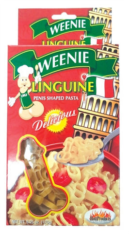 "PENIS SHAPED PASTA ""WEENIE LINGUINI"""