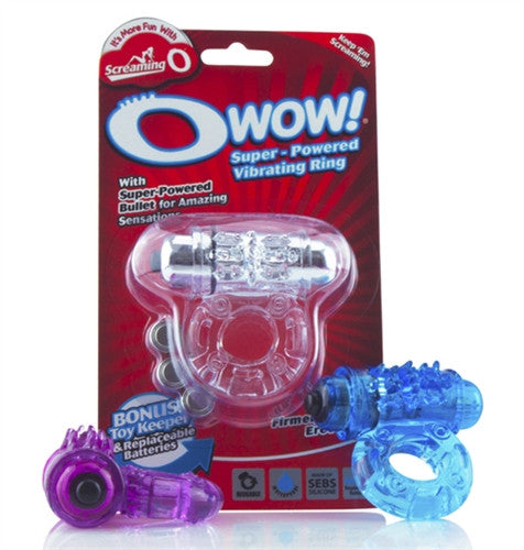 THE SCREAMING O WOW VIBRATING COCK RING (ASST. COLORS)