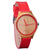 Wooden Watches | The Red Hana Womens Bamboo Watch