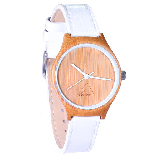 Wooden Watch | The White Hana Womens Bamboo Watch