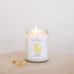 CITRINE CRYSTAL CANDLE (9oz)