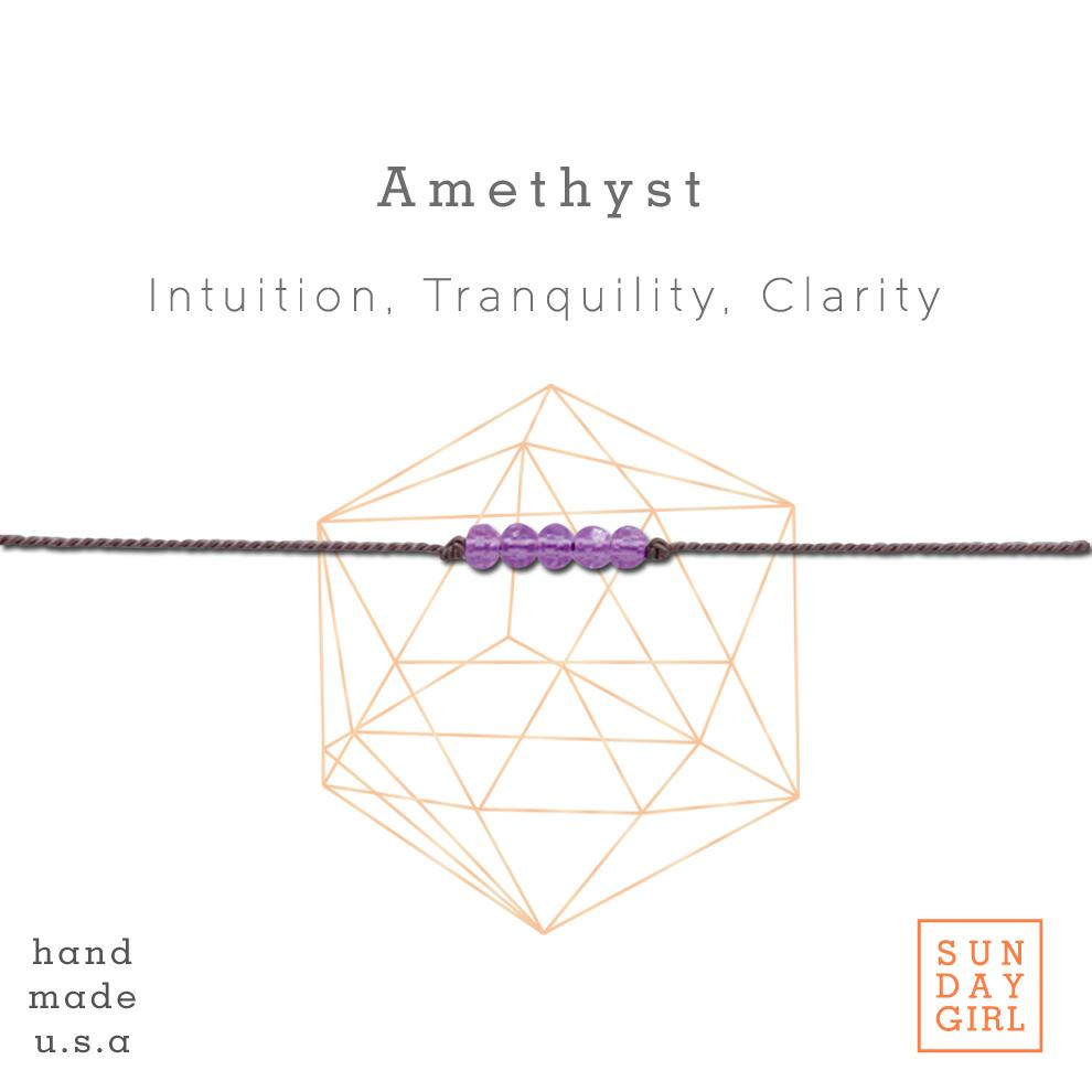 CRYSTAL INTENTION BRACELET (AMETHYST)