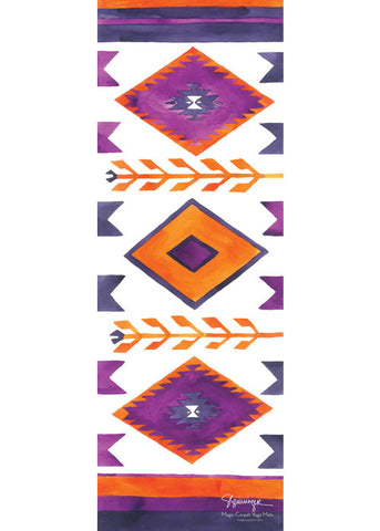 Adult Suzani Blush Magic Carpet Yoga Mat