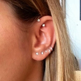My Ear Cartilage & Tragus Piercings--Nicole