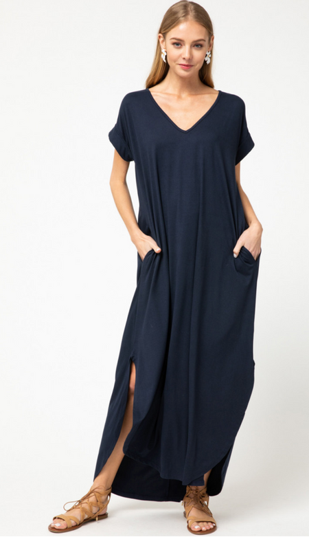 Super Soft Navy Maxi