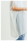 White Tassel Cover Up