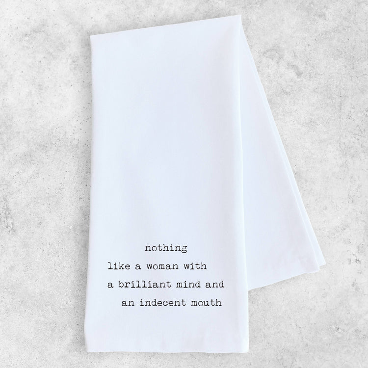 Brilliant Mind & Indecent Mouth - Tea Towel