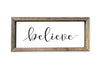 16x7 Thin Reclaimed Wood - White Canvas