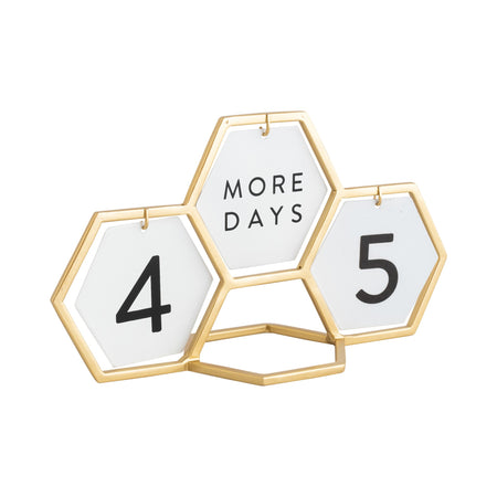 Gold and White Countdown Calendar