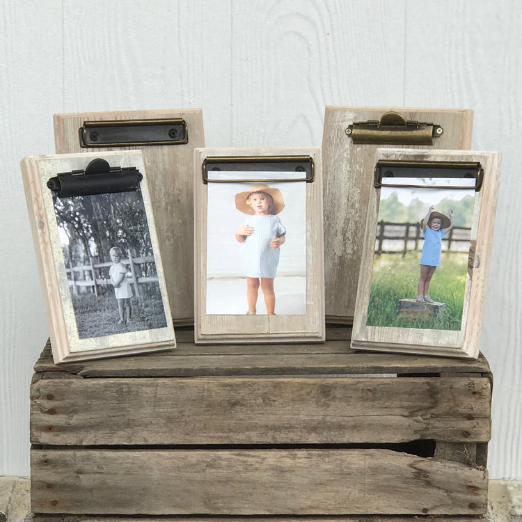 Reclaimed Photo Clip Board