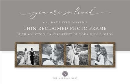 4-Pane Thin Reclaimed Photo Frame Gift