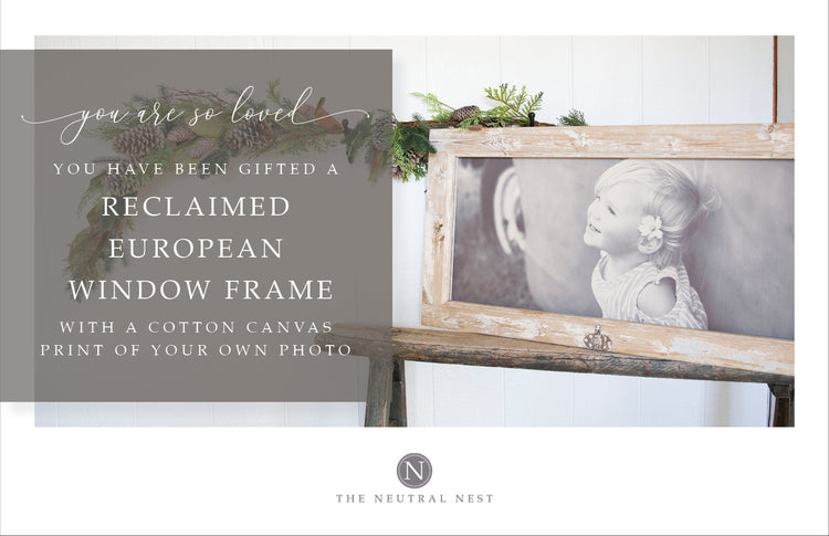 Reclaimed European Photo Frame Gift