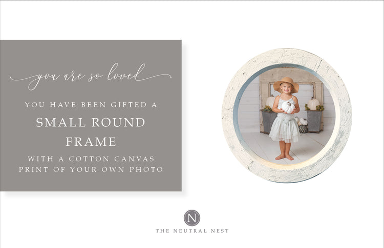 Small Round Photo Frame Gift