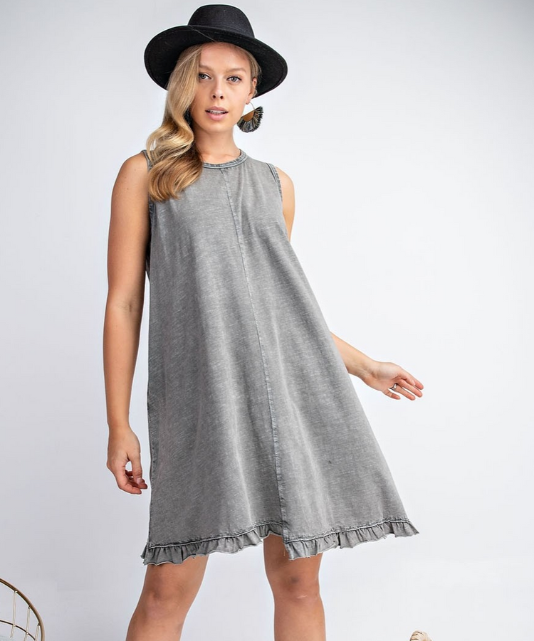 Mineral Washed Sleeveless Dress