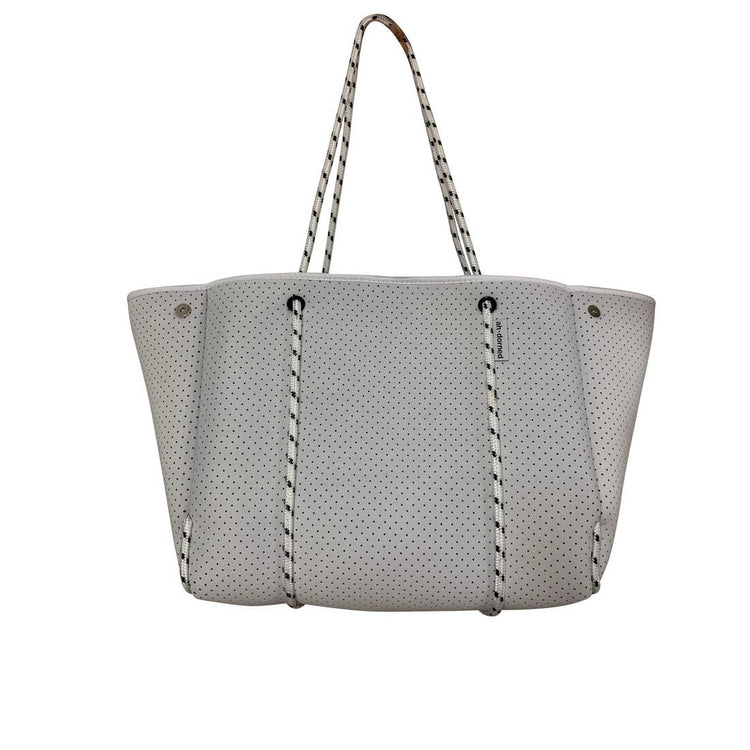 Perforated Solid Neoprene Tote with Pop Color Interior