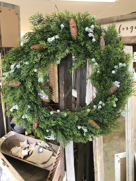 Winter Cedar Wreath