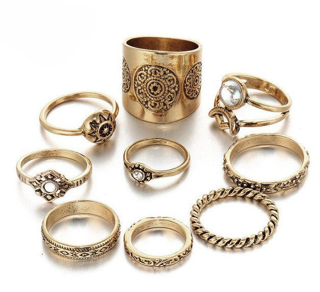 """Illuminate"" Boho Ring Set"