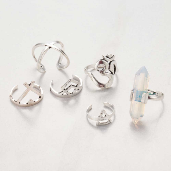 Lucky 6 piece Ring set