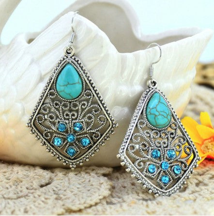 Water Drop Turquoise Earrings