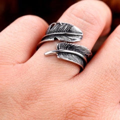 Steel Feather Ring