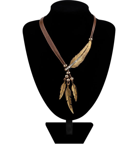 Boho Feather Necklace