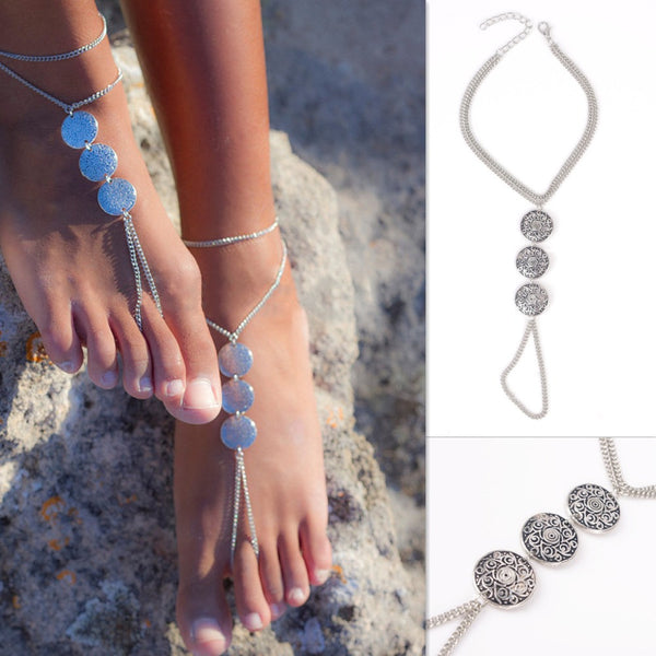 Triple Coin Anklet