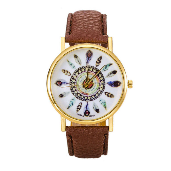 Boho Style Feather Watch