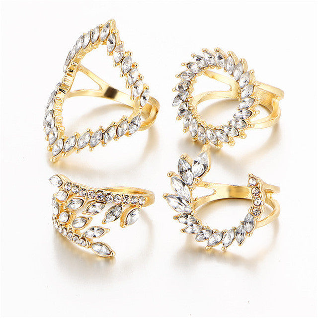 """Retro"" Boho Ring Set"