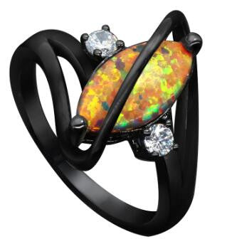 Fire Opal Sway Ring