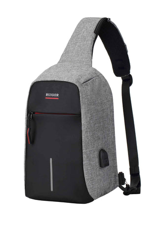 RUIGOR LINK 44 Slingbag Black-Grey - Sorta Stuff