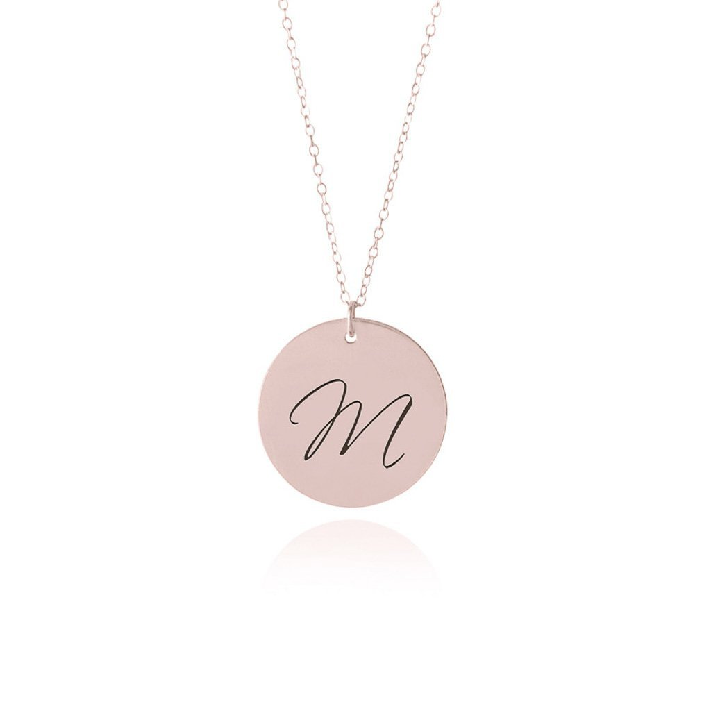 Rose Gold Initial Necklace - Sorta Stuff