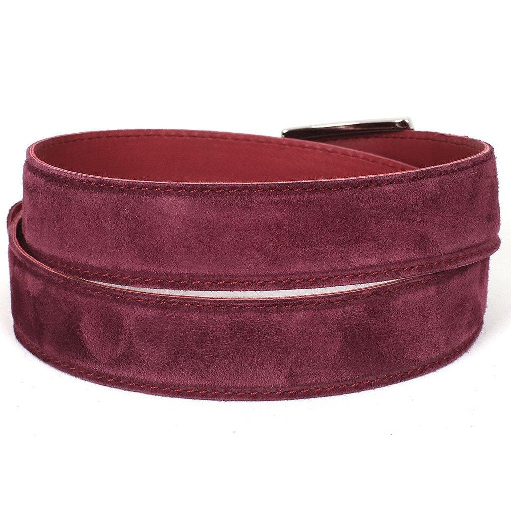 PAUL PARKMAN Men's Purple Suede Belt (ID#B06-PURP) - Sorta Stuff