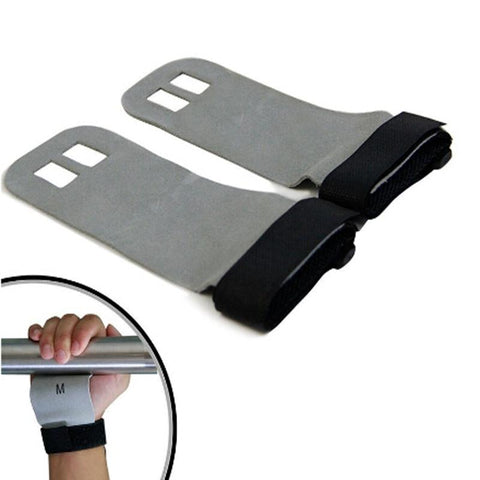 1 Pair S M L Hand Grip Synthetic Leather Crossfit Gymnastics Guard Palm Protectors Glove Pull Up Bar Weight Lifting Glove - Sorta Stuff