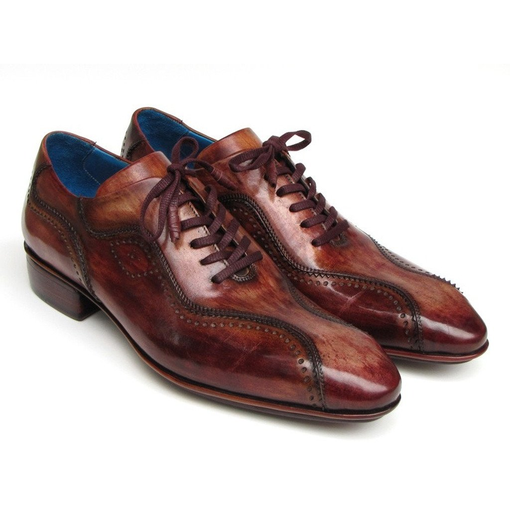 Paul Parkman Handmade Lace-Up Casual Shoes For Men Brown  (ID#84654-BRW)