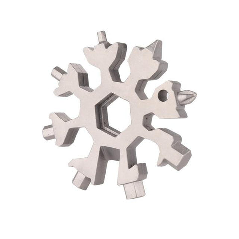 18-in-1 multi-tool card combination Compact and portable outdoor products Snowflake tool card - Sorta Stuff
