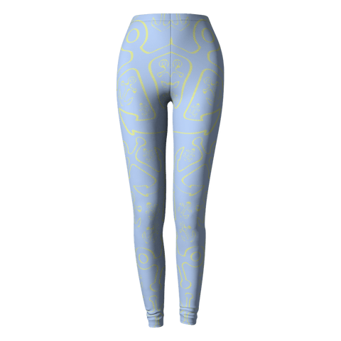 Anchor Dream Leggings - Light Blue