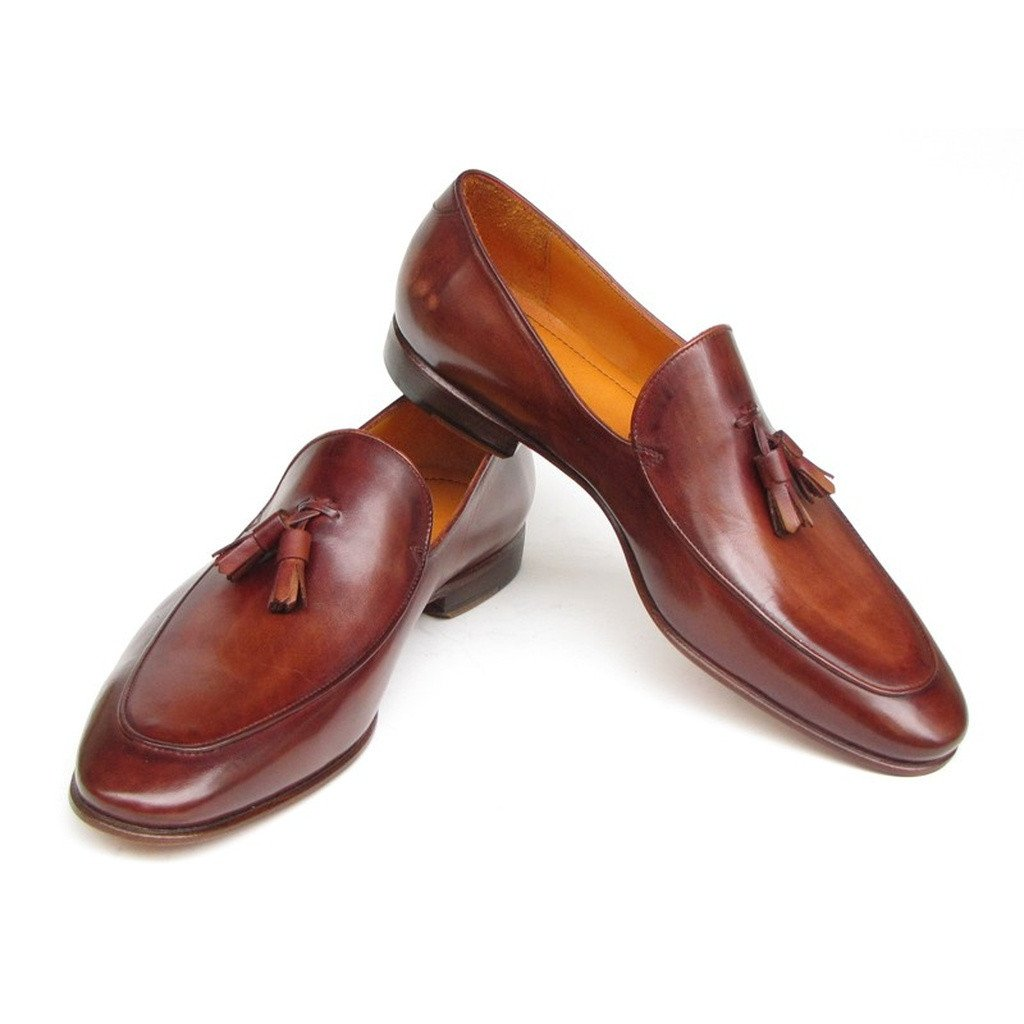 Paul Parkman Men's Tassel Loafer Brown Leather (ID#049-BRW) - Sorta Stuff