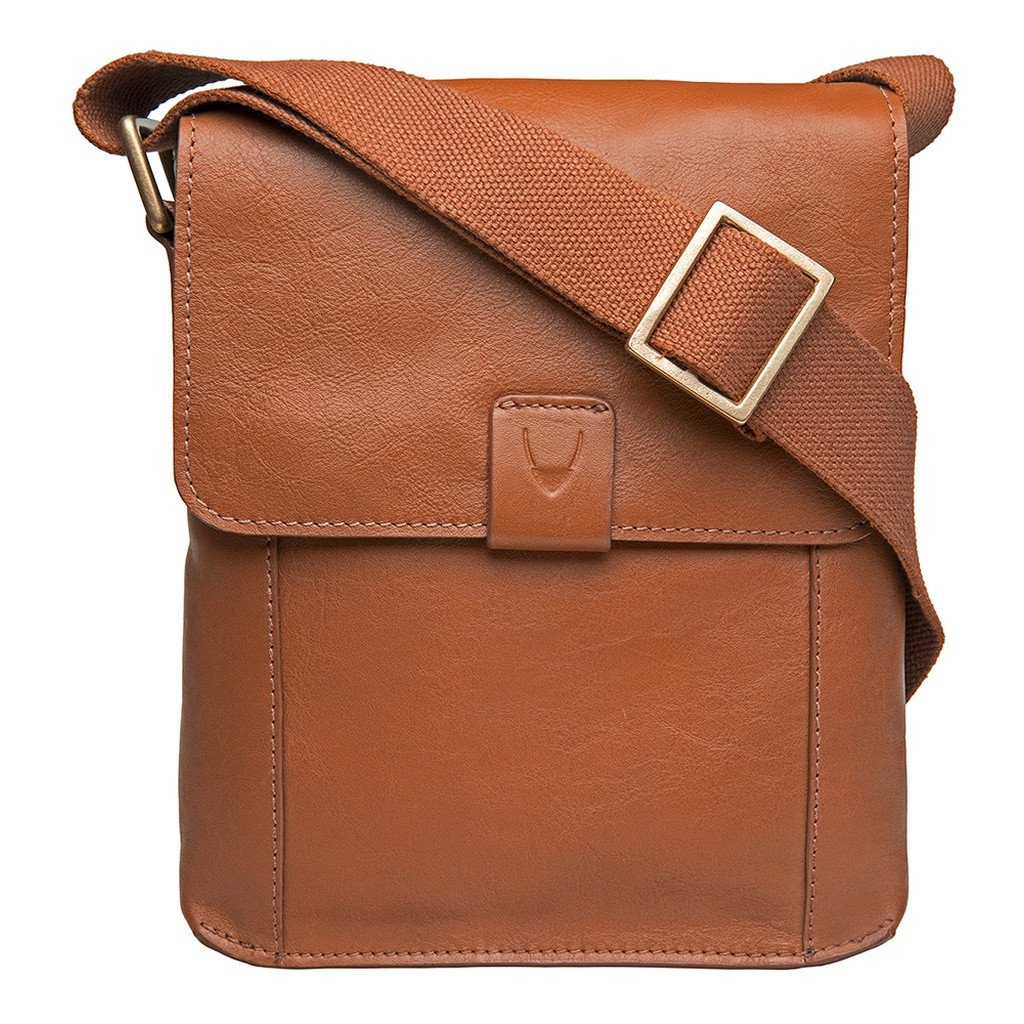 Aiden Small Leather Messenger Cross Body Bag - Sorta Stuff